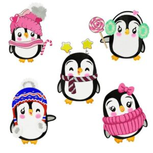 "Pinguin Set ""Christmas Friends"" - StickZebra"