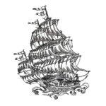 Segelschiff - StickZebra