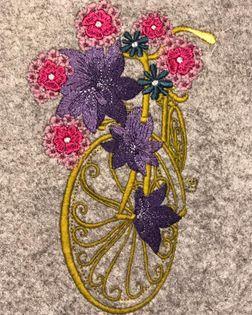 Blumenfahrrad Stickdatei - StickZebra