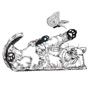 Kätzchen Doodle - StickZebra