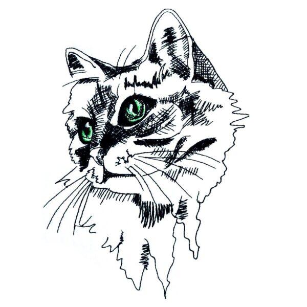 Katzengesicht - StickZebra