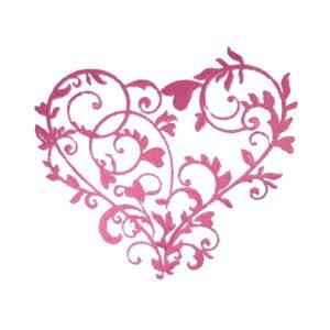 Schnörkel Herz - StickZebra