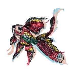 Goldfisch - StickZebra