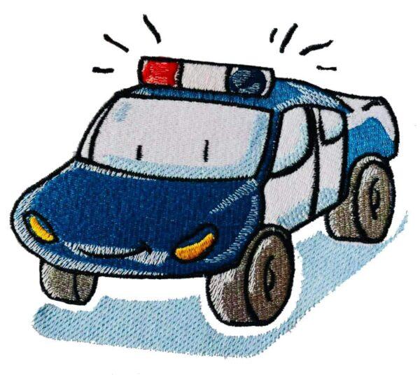 Polizeiauto Stickdatei - StickZebra