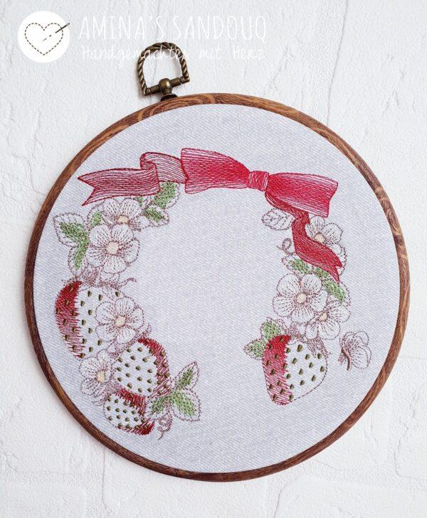 """Rahmen """"Erdbeeren"""" - StickZebra"""