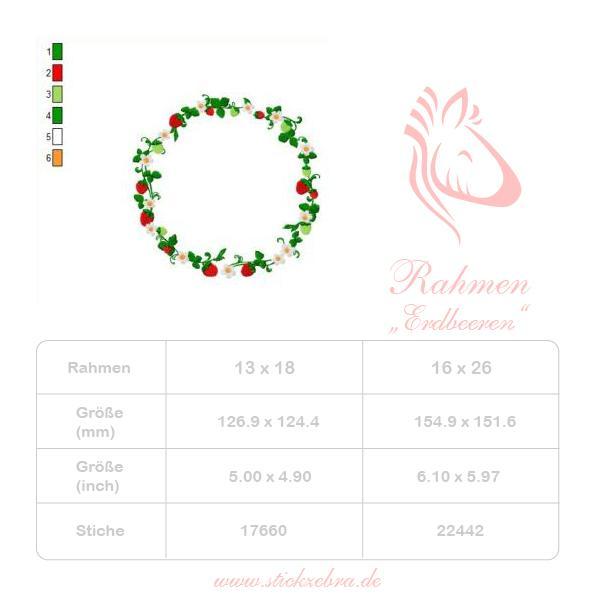 Erdbeeren Set - StickZebra