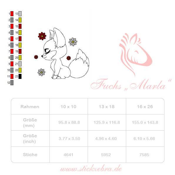 """Fuchs """"Marla"""" Applikation - StickZebra"""