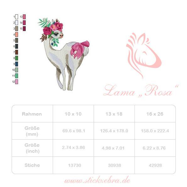 """Lama """"Rosa"""" - StickZebra"""