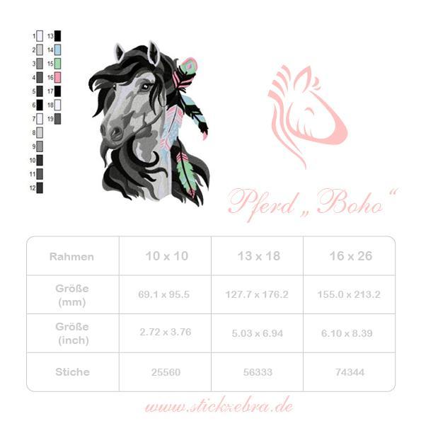 Pferd Boho - StickZebra