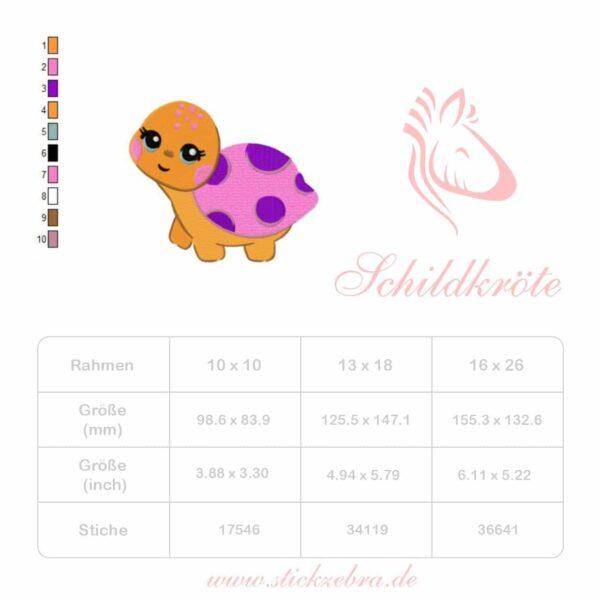 Schildkröte Mathilda - StickZebra