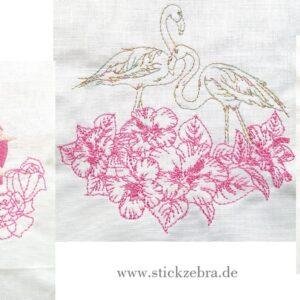 """Flamingo Set """"Line Art"""" - StickZebra"""