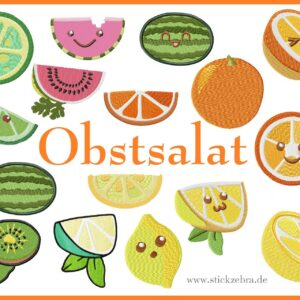 "Früchte Set "" Obstsalat"" - StickZebra"