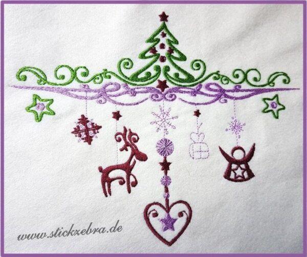 Weihnachtsdekoration - StickZebra
