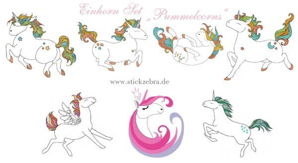 """Einhorn Set """"Pummelcorns"""" - StickZebra"""