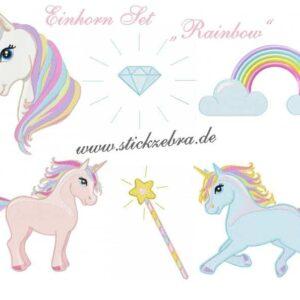"""Einhorn Set """" Rainbow"""" - StickZebra"""
