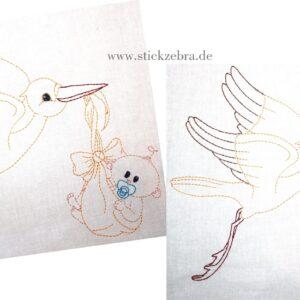 Storch Set Mädchen/Junge - StickZebra