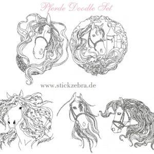 Pferde Doodle Set - StickZebra