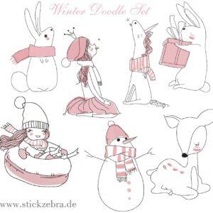 Doodle Winter Set - StickZebra