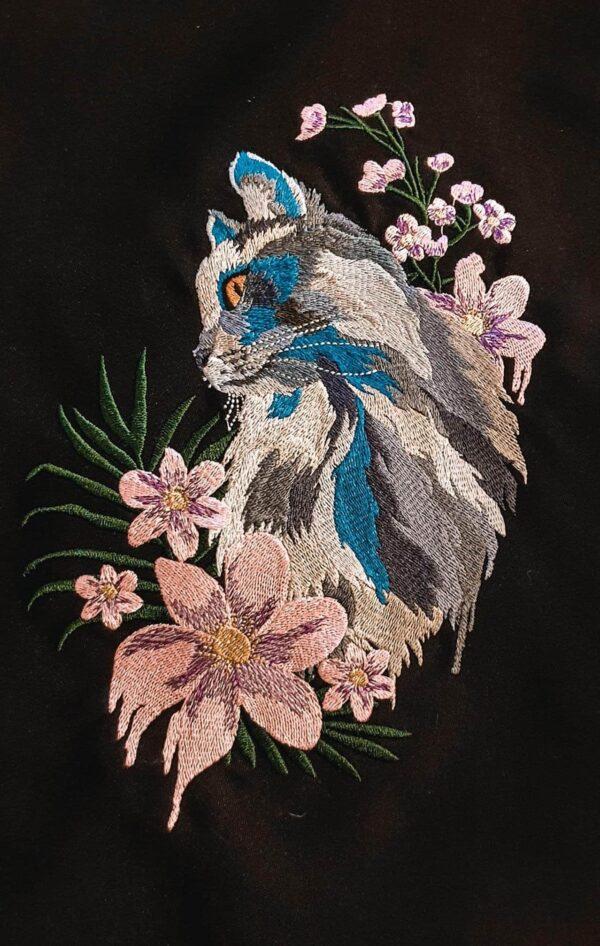 Blumenkatze - StickZebra