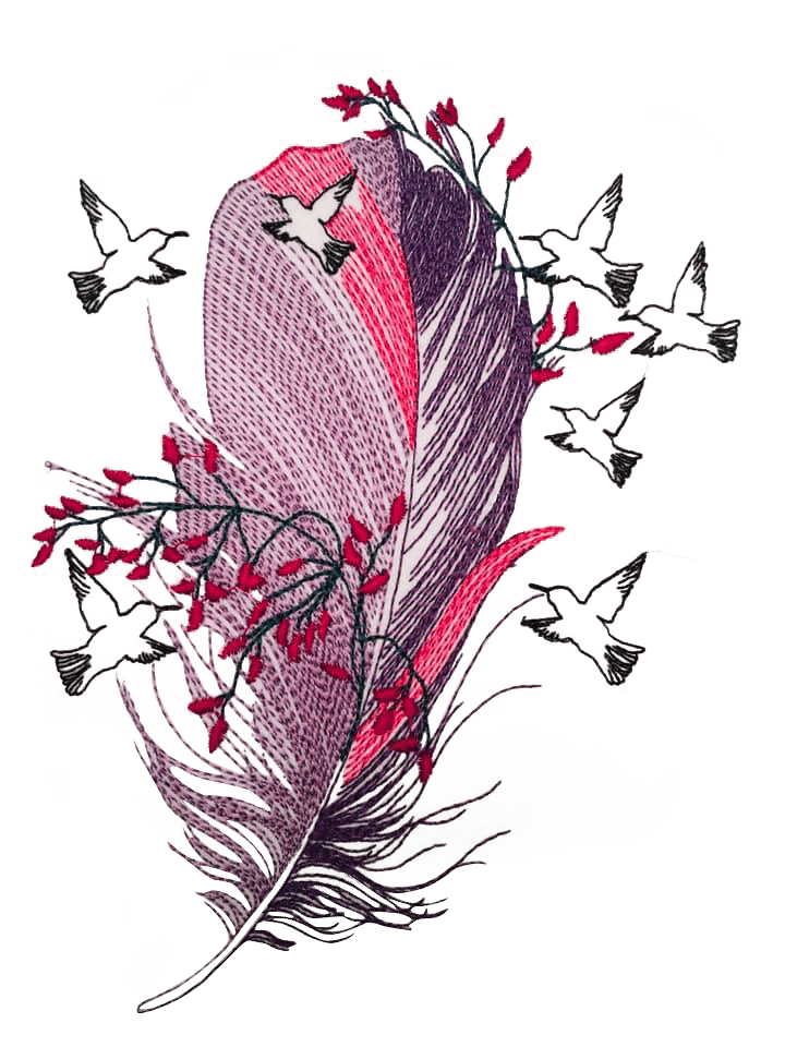 Vogelfeder Stickdatei - StickZebra